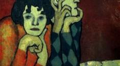 "Пабло Пикассо ""Арлекин и его подружка""."